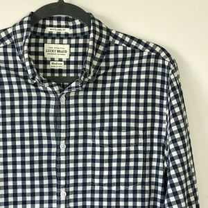 Lucky Brand Checkered White-Label Fit Button-up